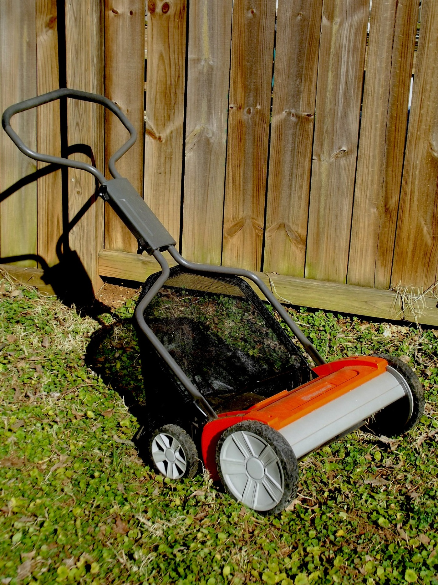 Reel mower, lawn mower, hand push
